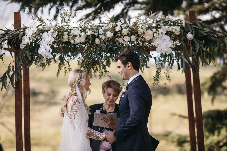 wedding ceremony at Bendooley Estate