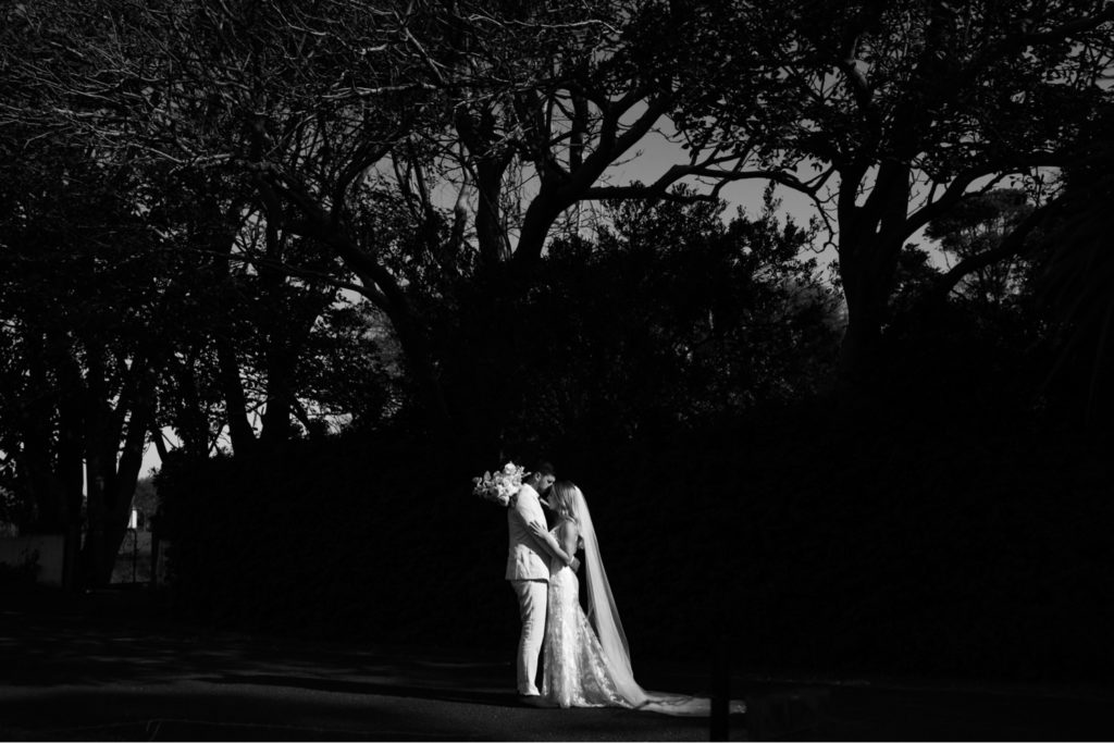 natural light wedding photography black and white photo